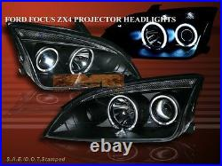 05-07 Ford Focus Zx4 Projector Headlights Halo Ccfl Bc
