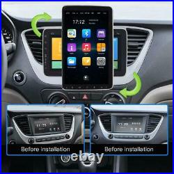 10.1in 1DIN Android9.1 Car Radio Stereo MP5 Player Bluetooth GPS Sat Nav FM WiFi