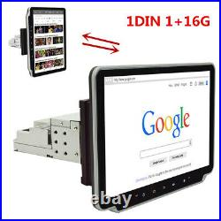 10.1in 1DIN Car Stereo Radio MP5 Player GPS SAT NAV Head Unit WiFi Android 9.1