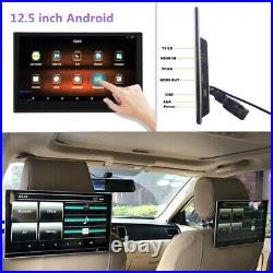 12.5in Car RearSeat Headrest Monitor Screen Bluetooth Android Entertainment Play