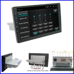 1Din Adjustable 9 Android Touch Screen Car Stereo Radio GPS Wifi BT Navigation