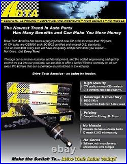 2 New DTA CV Axles Front Right & Left With Warranty for 2010 2000 Ford Focus