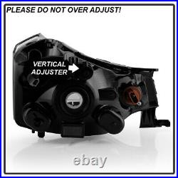 2008-2011 Ford Focus SSESESSEL Black Style Headlights Headlamps Left+Right