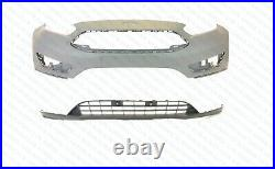 2015 2016 2017 2018 Ford Focus Front Bumper Cover Upper And Lower Set Brand New