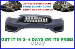 2015-2017 FORD FOCUS front BUMPER WITH GRILLS AND FOG LIGHT COVER