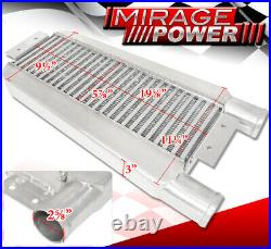 23X11X3 Turbo Intercooler Same Side 2.5 Inlet & Outlet Mustang Focus Ford