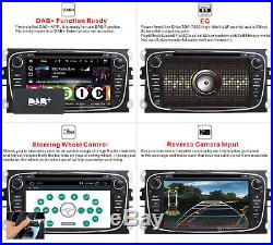 Android 10 Car DAB+ DVD GPS Navi Radio Head Unit For Ford Focus 2008-2010 Mondeo