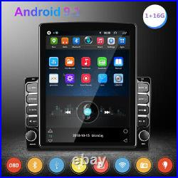 Android 9.1 9.7in 2DIN Car Stereo Radio MP5 Player Sat Nav GPS BT WIFI FM Camera