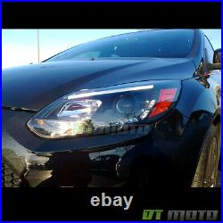 Black 2012 2013 2014 Ford Focus LED DRL Projector Headlights Headlamp Left+Right