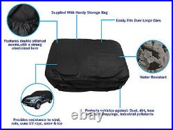 Black Indoor & Outdoor UV Rain Frost Breathable Full Car Cover to fit Ford Focus