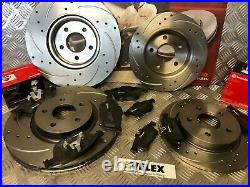 Brembo Front & Rear Drilled & Grooved Discs & Pads Ford Focus 2.0 2.5 St Mk2/3