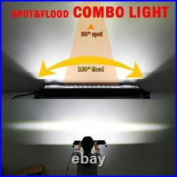 Curved 22 32 42 50 52'' LED Work Light Bar Spot Flood Roof Driving Lamp Offroad