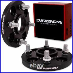 DIRENZA 15mm BLACK WHEEL SPACERS 4x108 PAIR FOR FORD FIESTA FOCUS MONDEO RS ST