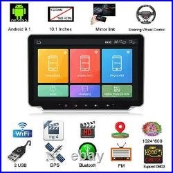 Double DIN Android 9.1 Head Unit Car Radio Stereo GPS NAVI MP5 Player WiFi 2.5D