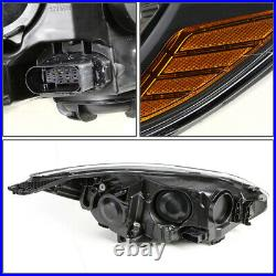 FOR 2012-2014 FORD FOCUS MKIII SIGNAL HEADLIGHT LAMPS WithLED KIT SLIM STYLE BLACK