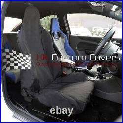 FORD FOCUS RS RECARO TAILORED SINGLE SEAT COVER IN BLACK 2011 On 248