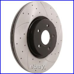 FRONT DRILLED GROOVED 320mm BRAKE DISCS PAIR FOR FORD FOCUS MK2 2.5 ST 225 ST225