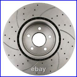 FRONT DRILLED GROOVED 336mm BRAKE DISCS FOR FORD FOCUS MK2 RS 2.5 TURBO 09-11