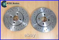 Focus ST170 Drilled Grooved Front Brake Discs & Pads