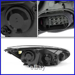 For 15-18 Ford Focus Chrome Housing Amber Corner Headlight Replacement Head Lamp
