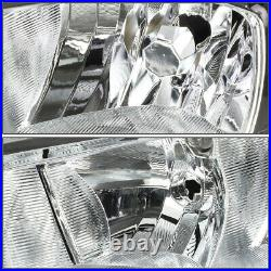 For 15-18 Ford Focus Chrome Housing Clear Corner Headlight Replacement Head Lamp