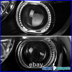 For 2012-2014 Ford Focus Black Projector Headlights with LED Sequential Signal