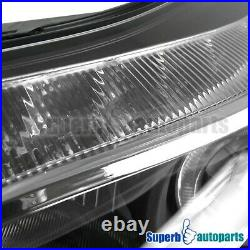 For 2012-2014 Ford Focus LED Strip Projector Headlights With Halo Rim Black
