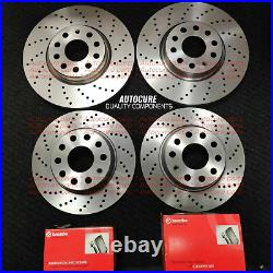 For Ford Focus St-2 Mk3 Drilled Front Rear Discs And Brembo Pads Brand New