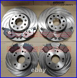 For Ford Focus St225 Front & Rear Grooved Brake Discs + Pads Brand New