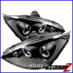 Ford Focus 2000-2004 New Dual Halo Projector Headlight Left+Right Pair Assembly