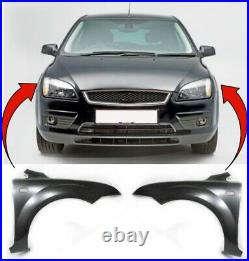 Ford Focus 2005-2008 Front Wing Primed Pair Left & Right New Insurance Approved