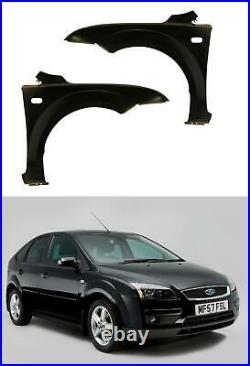 Ford Focus 2005 2008 Front Wings Pair Left & Right New Primed Oem Spec