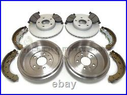 Ford Focus Mk3 2011-2017 Rear 2 Brake Drums And Shoes & Front Discs & Pads Set