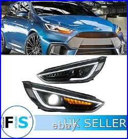 Ford Focus Mk3 Rs St Head Lights Lamps Led Drl Sequential Turn Signal 2015-2018