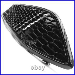 Ford Focus Mk3 Stline All Black Gloss Front Bumper Grilles Wing Mirror Covers