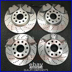 Ford Focus St225 Front & Rear Drilled Brake Discs + Pads