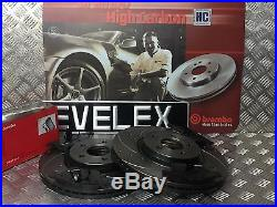 Front Brembo Drilled & Grooved Brake Discs & Pads Ford Focus Volvo C30 C70 04-20