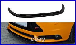 Front Diffuser Ver. 2 (gloss Black) Fits For Ford Focus Mk3 St Preface (2012-14)