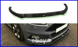 Front Diffuser Ver. 3 (gloss Black) Fits For Ford Focus St Mk3 Facelift (2015-up)