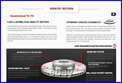 Front & Rear Brake Rotors And Ceramic Pads For 2012 2013 2014 2018 Ford Focus