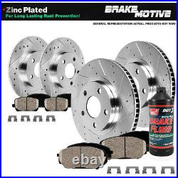 Front+Rear Drill Slot Brake Rotors & Ceramic Pads For 2013 2018 Ford Focus ST