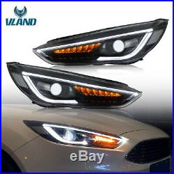 LED DRL For Ford Focus RS GT MK3 Headlight 2015-up Dynamic Sequential Headlights