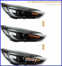 LED Headlight For Ford Focus MK3 ST 15-17 Head Lights With Sequential Indicator