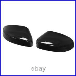 Pair For Ford Focus Mk3 12-17 Gloss Black Painted Door Wing Mirror Cover Caps Uk
