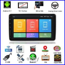 Rotatable 10.1In Single 1Din Android 9.1 Car MP5 Player Stereo Radio GPS WIFI BT